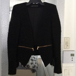 Zara black tweed blazer